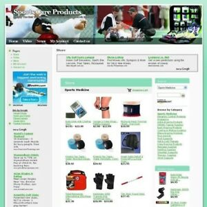 Sports Care Products Store Online Business Website For Sale Make Money At Home
