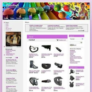 Established Online Paintball Store Business Website For Sale Free Domain Name