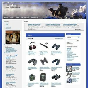 Established Online Hunting Store Business Website For Sale Make Money At Home