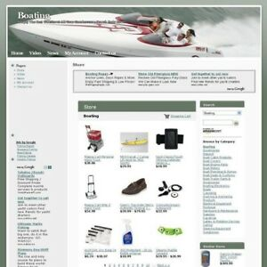 Established Affiliate Boating New Store Business Website For Sale Free Domain