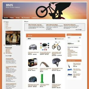 Established Online Bmx Cycling Store Business Website For Sale Work At Home Now