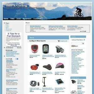 Established Online Bike Cycling Business Website For Sale Free Domain Name