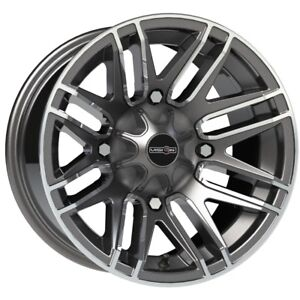 14 Inch 14x7 Vision 112 Assault Gunmetal Machined Wheel Rim 4x110 3