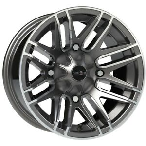 14 Inch 14x7 Vision 112 Assault Gunmetal Machined Wheel Rim 4x6 14 4x156 3