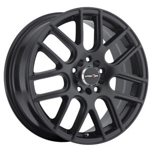14 Inch 14x5 5 Vision 426 Cross Matte Black Wheel Rim 5x100 38