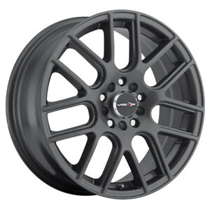 14 Inch 14x5 5 Vision 426 Cross Gunmetal Wheel Rim 4x100 38