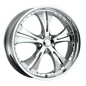 16 Inch 16x7 Vision 539 Shockwave Chrome Wheel Rim 5x4 5 5x114 3 42