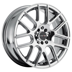 16 Inch 16x7 Vision 426 Cross Chrome Wheel Rim 5x4 5 5x114 3 38