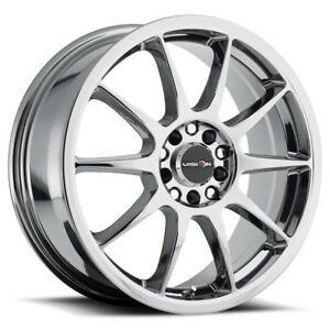16 Inch 16x7 Vision 425 Bane Chrome Wheel Rim 5x110 38