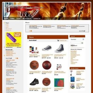 Established Online Basketball Store Business Website For Sale Free Domain Name
