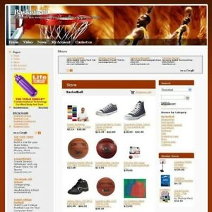 Established Affiliate Basketball Store Business Website For Sale Free Domain