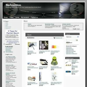 Established Badminton Online Business Website For Sale High Income Potential