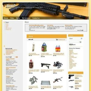 Established Airsoft Online Affiliate Business Website For Sale Free Domain Name