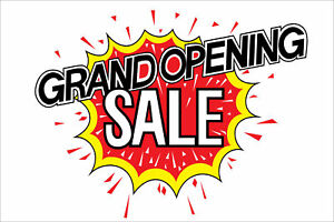 2x Grand Opening Sale 2 x3 Vinyl Sign Banners W 4 Brass Grommets Made Usa 2
