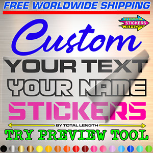 Personalized Custom Made Text Name Vinyl Decal Sticker Car Wall Lettering Number