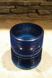 Vtg Blue Emergency Light Lens 5 1 2 Diameter Classic Police Fire Truck