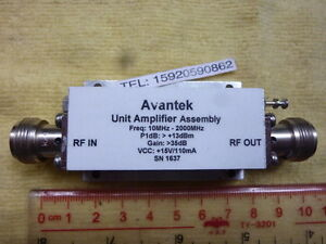 1pc Used Good Avantek 10mhz 2000mhz 15v N f f Unit Amplifier Assembly