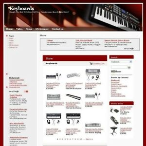 Established Online Keyboards Music Business Website For Sale Free D