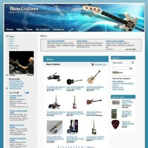 Established Bass Guitars Online Store Business Website For Sale Free Domain Name