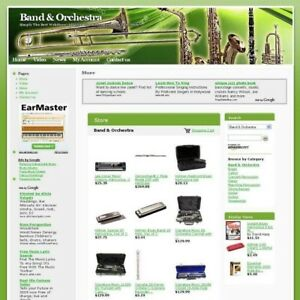 Established Online Band Orchestra Business Website For Sale Free Domain Name
