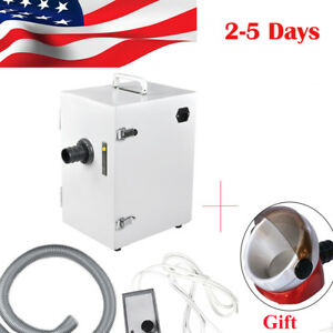 Dental Lab Equipment Digital Single row Dust Collector Vacuum Cleaner 370w gift
