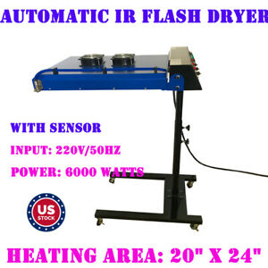 20 X 24 Screen Printing Automatic Ir Flash Dryer T shirt Printing 6000w 220v