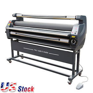Us 63 Full Auto Wide Format Heat Assisted Cold Laminator Entry Level 110v