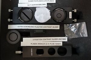 Zeiss Axiovert 3 Position Contrast Slider See Description For All Included Pt 86