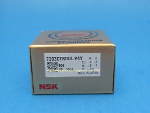 Nsk 7203ctrdulp4y Abec 7 Super Precision Spindle Bearings Set Of Two
