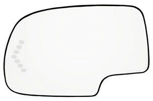 New Mirror Glass Heated W Turn Signal Driver Side For 03 07 Chevy Gmc 88944391