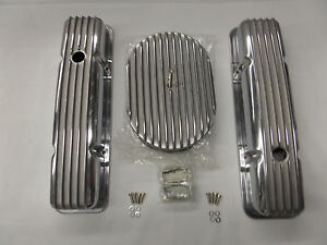 S B Chevy Tall Fin Val Cover Fin Breather Kit Cr X101