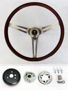 1967 1968 Grand Prix Gto Firebird Le Mans Wood Steering Wheel Low Gloss Grip 15