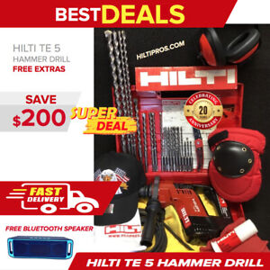 Hilti Te 5 Hammer Drill Preowned Free Bluetooth Speaker Extras Quick Ship