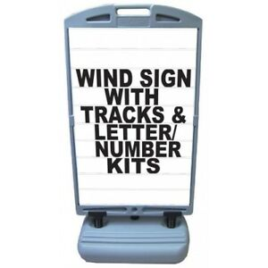 6x Business Wind Signs Deluxe letter Track Panels Made In Usa six