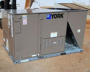 York Packaged 10 Ton Heat Pump Air Conditioning Unit 460v New 189