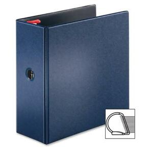 Tops Locking D ring Binder 5 Cap 11 x8 1 2 Dark Blue 18063