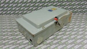 Used Square D 200 Amp Heavy Duty Fusible Safety Switch 600vac
