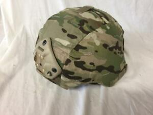 Mich ACH Helmet w Multicam Cover & Ops core Chinstrap Norotos - Large