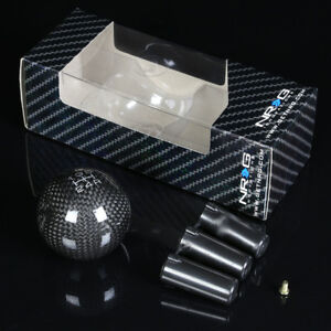 Nrg Aluminum Ball Style Weighted 5 Speed Gear Shifter Shift Knob Carbon Fiber