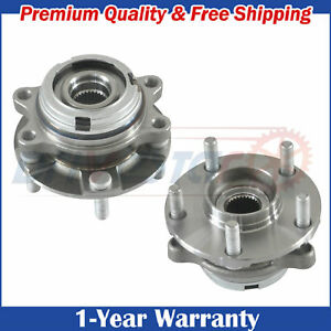 Pair 2 New Front Lh And Rh Wheel Hub Bearings For 07 12 Nissan Altima W Abs