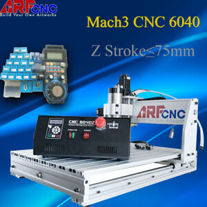 2200w 4 Axis 6040 Desktop Cnc Router Engraver Milling Machine Engraving Drilling