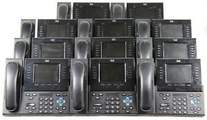 Lot Of 11 Cisco Cp8961 Unified Ip Color Display Office Phones