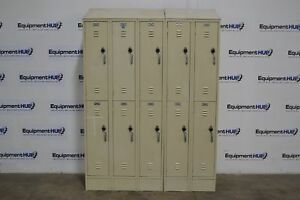Wesco Lock Pad School Gym Employee Lockers 10 Total Cabinets