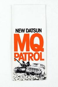 Nissan Mq 160 Patrol 1979 6 Page Fold Out Dealers Factory Brochure Nos