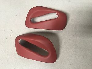 99 04 Carrera 911 Porsche 996 Cabrio Lobster Red R L Seat Belt Guide Trim