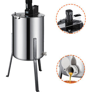 4 Frame Electric Honey Extractor Beekeeping 24 Barrel Height 120 W Motor Newest