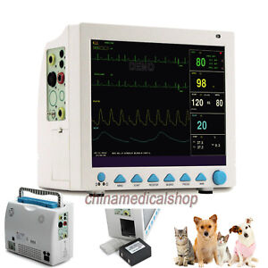 Vet Veterinary Patient Monitor 6 Parameter Ecg Nibp Pr Spo2 Temp Resp Option Co2