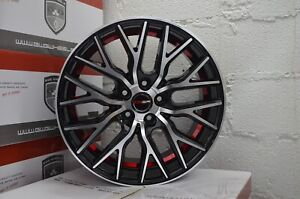4 Gwg Wheels Flare 18 Inch Gloss Black Red Rims Fits Ford Explorer 2002 2018