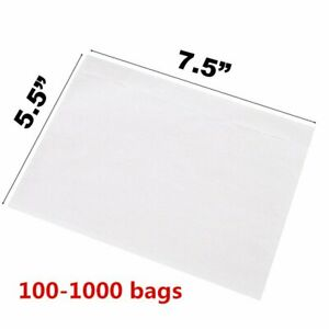 7 5 X 5 5 Clear Packing List Invoice Shipping Envelope Top Loading Self Adhesive