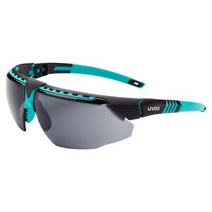 Uvex Avatar Safety Glasses With Smoke Anti fog Lens Teal Frame